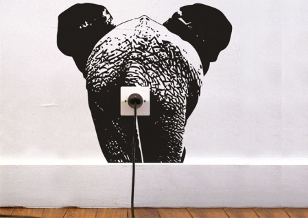 wallsticker elefant