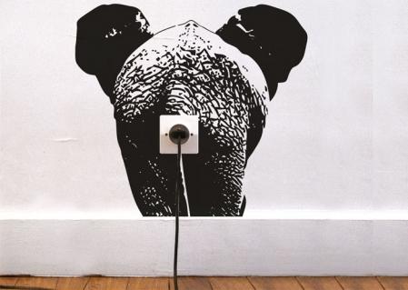 wallsticker elefant