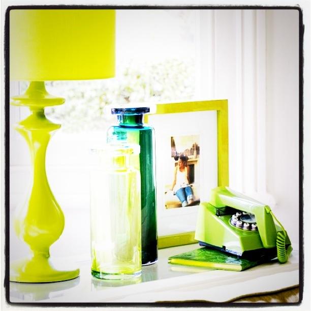 Vårgrønn lampe