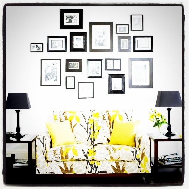 Bildevegg i stue