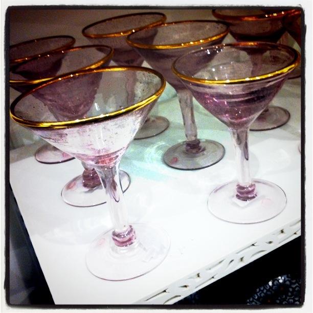 rosa champagneglass