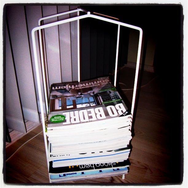 Her oppbevarer jeg mine magasiner