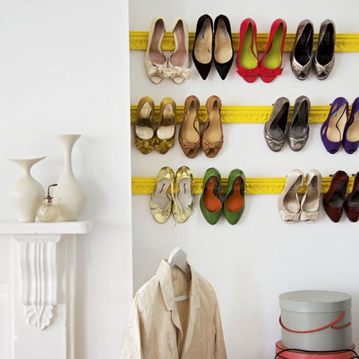 Oppbevar sko på veggen