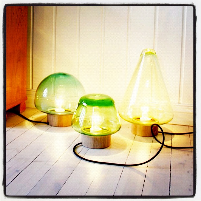 ny lamper fra Magnor Glassverk