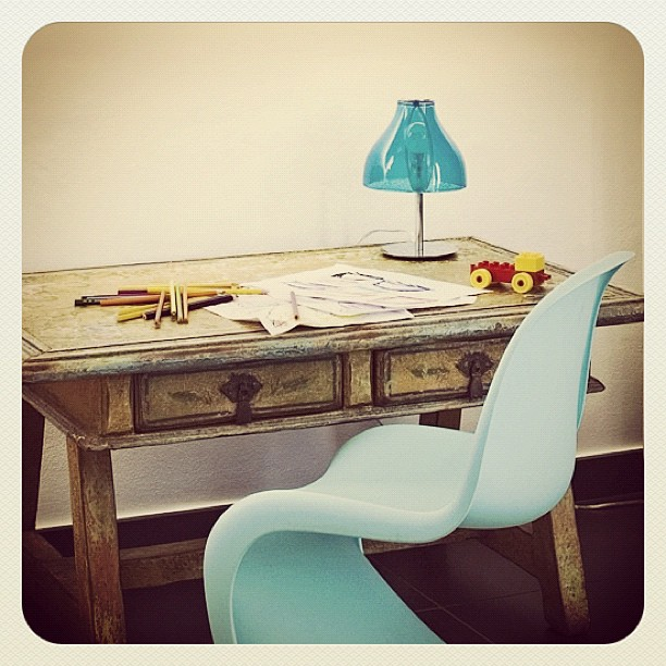 Lysblå Panton S Chair