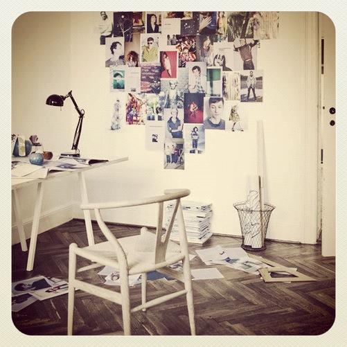 Hjemmekontor pyntet med Y stol