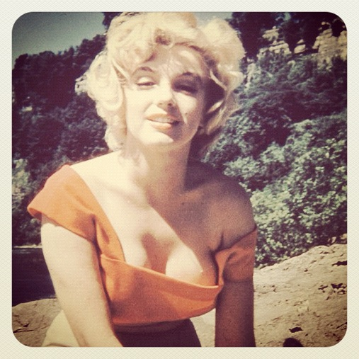 Marilyn Monroe på stranden