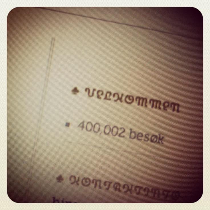 400 000 besøk