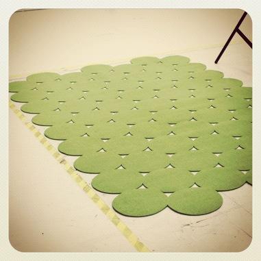 Grønt teppe fra PS
