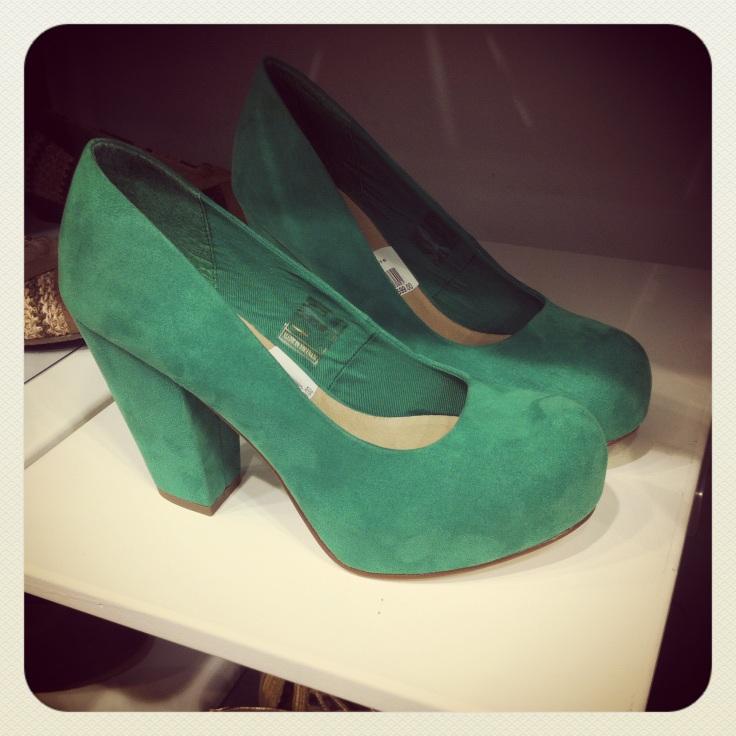 grønne pumps