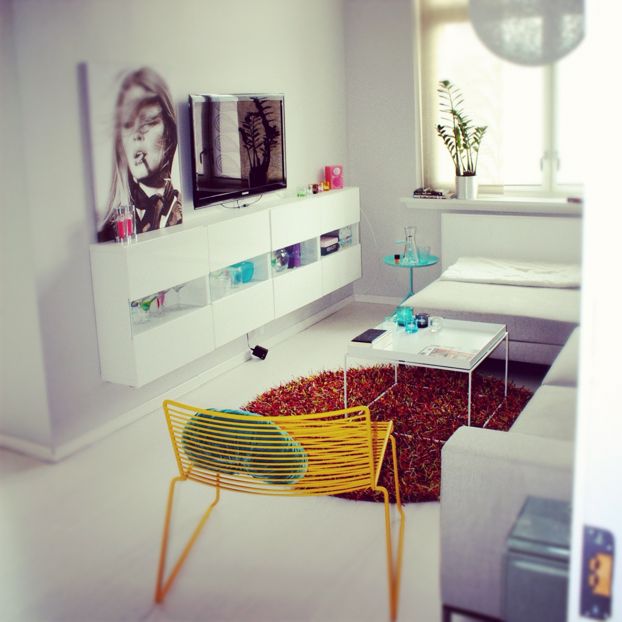 ikea rød sofa