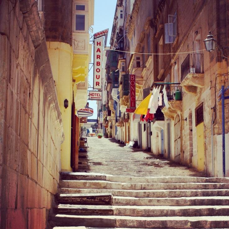 trappelangs i Valetta