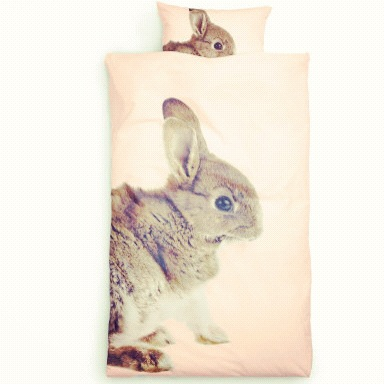 kanin sengetøy fra HM