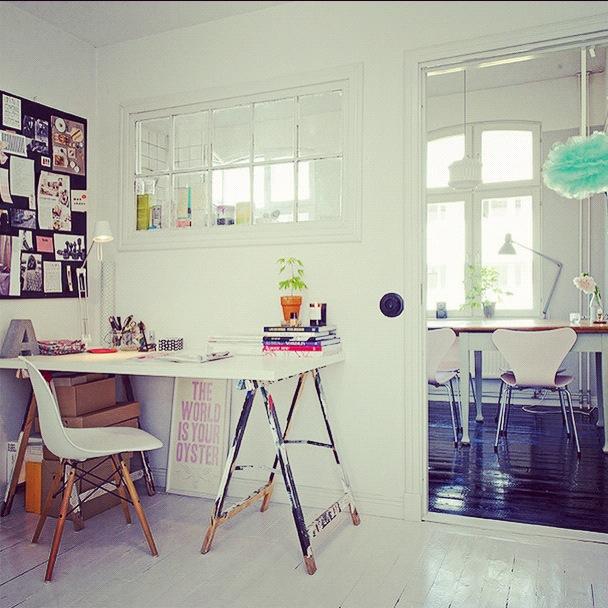 kontor med eames sidechair